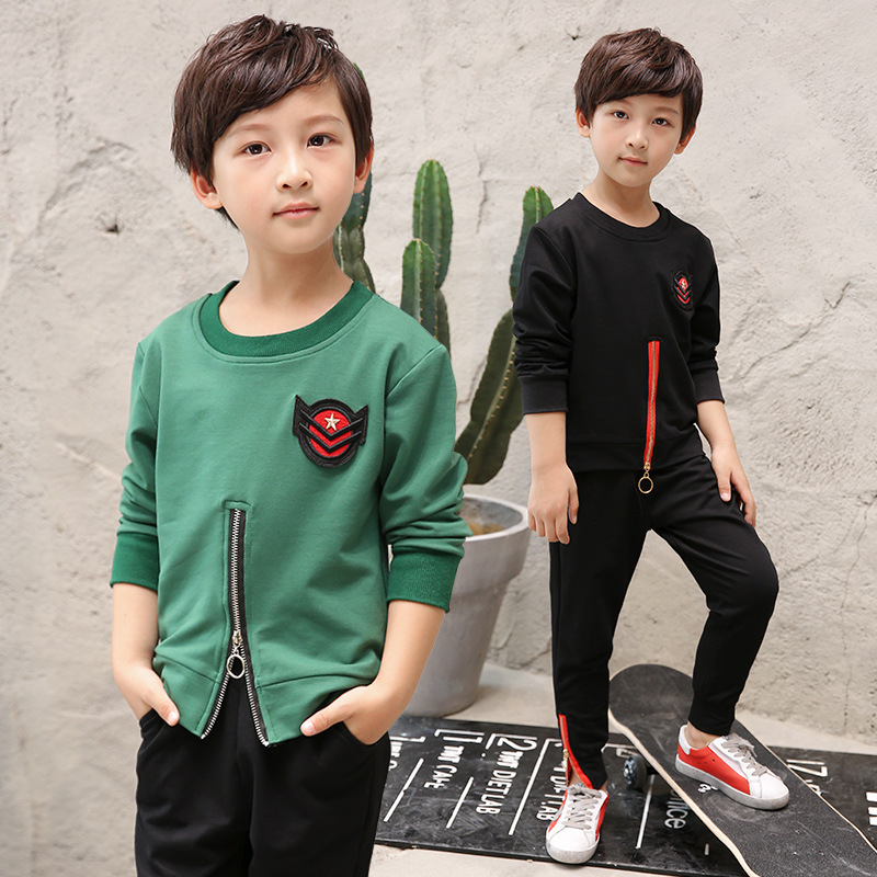 Catamite Autumn Clothing New Pattern Korean Sweater Suit Children Spring And Autumn Fashion Western Style Two Pieces Kids summer child suit new pattern girl korean salopettes twinset child fashion suit 2 pieces kids clothing sets suits