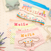 3 pcs/lot Children Panties Soft Cotton New band lovely Cartoon girls Underwear Kids Boxer Childrens Clothing For girl 3-11Y