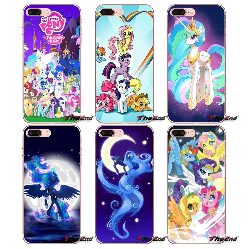 Для Apple iPhone X 4 4S 5 5S SE 5C 6 6 S 7 8 плюс 6 Plus 7 Plus 8 плюс Fundas Coque цветок Rainbow Dash My Little Pony мягкий чехол