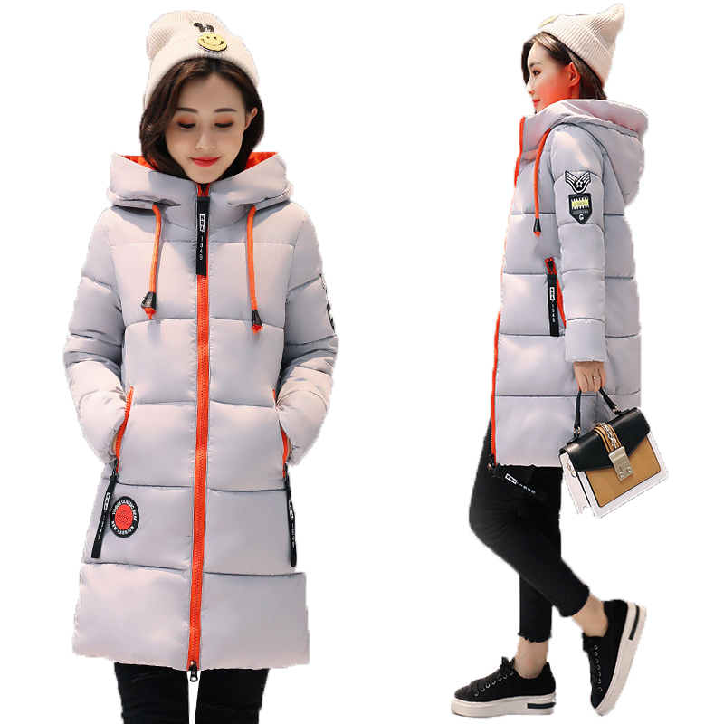 Winter Real Hot Sale Jacket Women Plus Size Jackets And Coats Female Cotton Padded Long Parkas Mujer 2018 Korean Hooded Coat