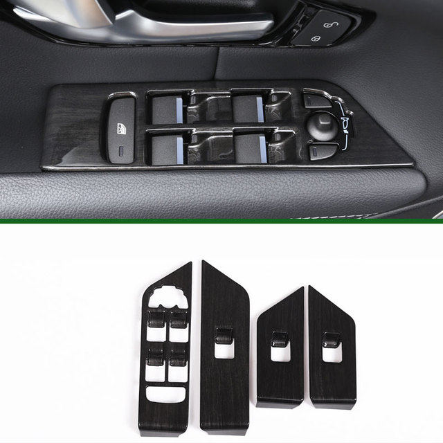 4pcs luxury interior accessory window lift switch button frame cover trim stickers for landrover range rover