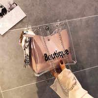Femmes sac mode Transparent épaule Messenger plage décontracté Shopping femme sac sac main femme schoudertas dames bolso mujer