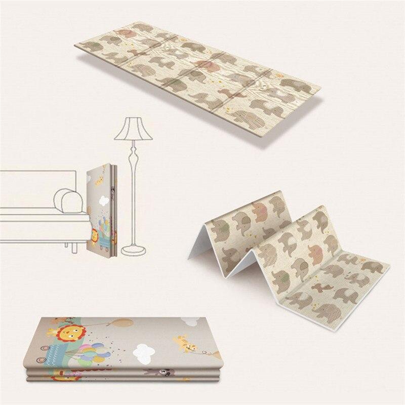 Tapis de jeu rampant antidérapant pliable pour enfants bébé écologique maison tapis Double face résistant à l'humidité sans odeur - 5