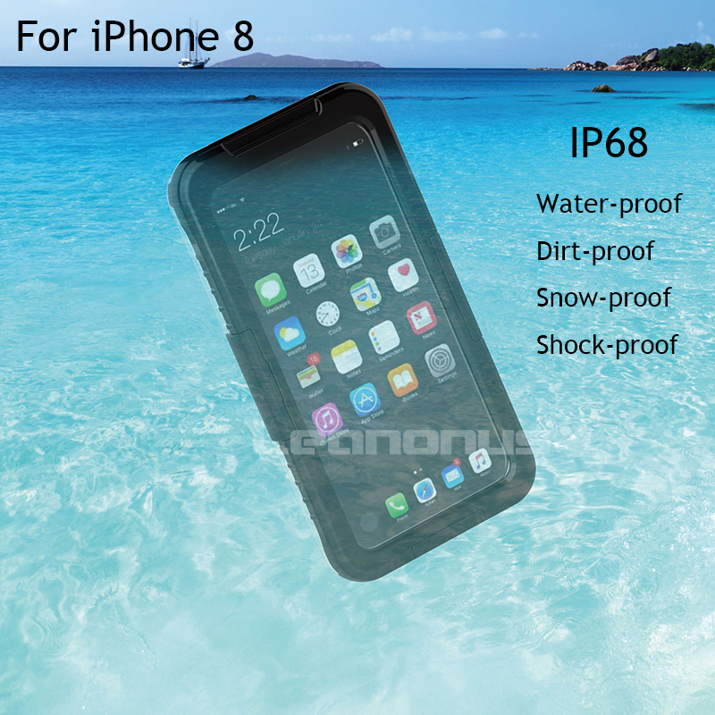 newest 79298 1dbf6 US $9.74 35% OFF|Waterproof Case For iPhone X for iPhone 7 6 6s 8 Plus IP68  Heavy Duty Hybrid Swimming Dive Hard Cover Water Dirt Shock Proof Bag-in ...