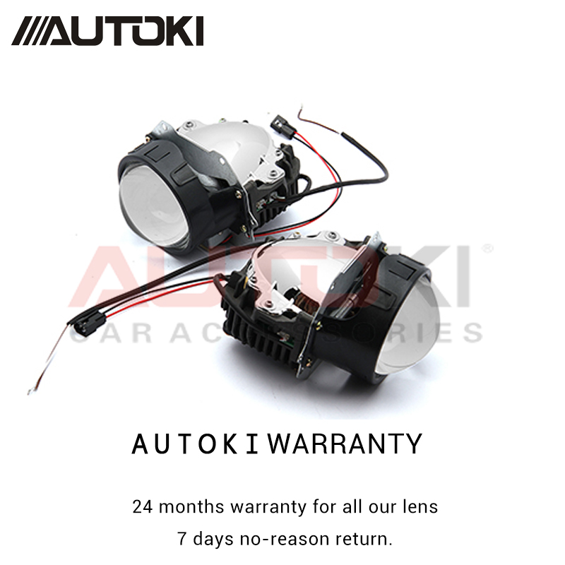 Autoki 2pcs Car Styling Universal Bi LED Projector Headlights Lens 3 0 inch High and Low