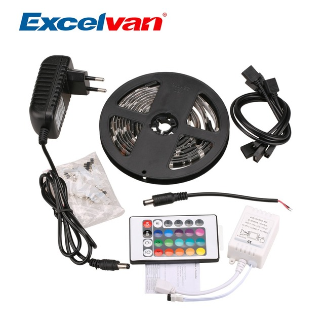 kit color light rope car strip rgb adapter product with leds changing remote packing controller led smd power blister flexible strips