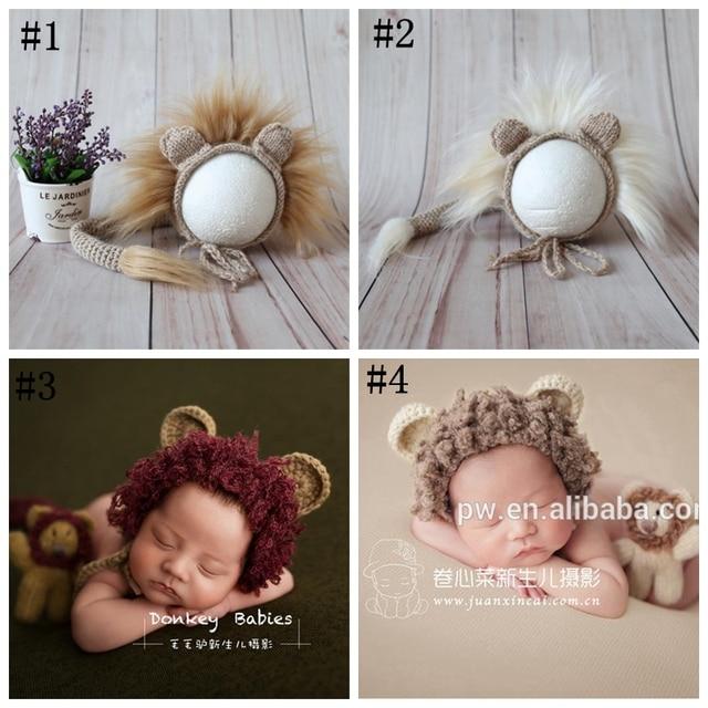 428382eb490 Newborn Bonnet Photo Props Vintage Ruffle Hat Soft Baby Boy Bonnet Baby  Christmas Hat Knitted Animal