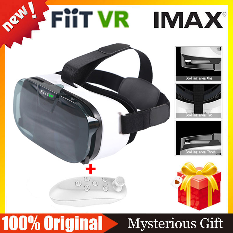 NEW FIIT <font><b>VR</b></font> 2N <font><b>Google</b></font> <font><b>Cardboard</b></font> Version <font><b>Virtual</b></font> <font><b>Reality</b></font> 3D <font><b>Glasses</b></font> <font><b>VR</b></font> <font><b>Glasses</b></font> <font><b>VR</b></font> <font><b>BOX</b></font> Xiao Zhai BOBO <font><b>VR</b></font> +Bluetooth Gamepad Remote