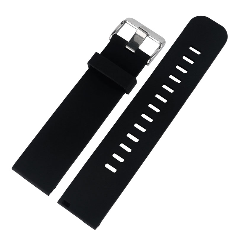 20MM 22 MM Watchband Black/Blue/Gray/Red Pin Buckle Silicone Sport Military Waterproof Bracelet Watch Strap Band black blue gray red 18mm 20mm 22mm waterproof silicone watchband replacement sport ourdoor with pin buckle diving rubber strap