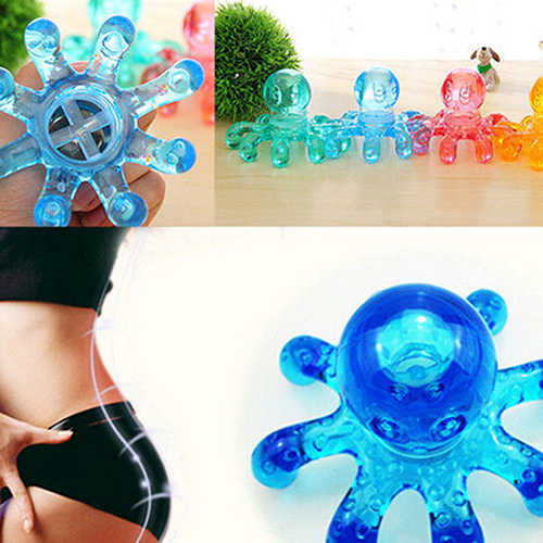 Popfeel Mini Octopus Vorm Persoonlijke Massage Spier Ontspannende Body Nek Massage Tool Crystal Claw Massage Handheld Massage