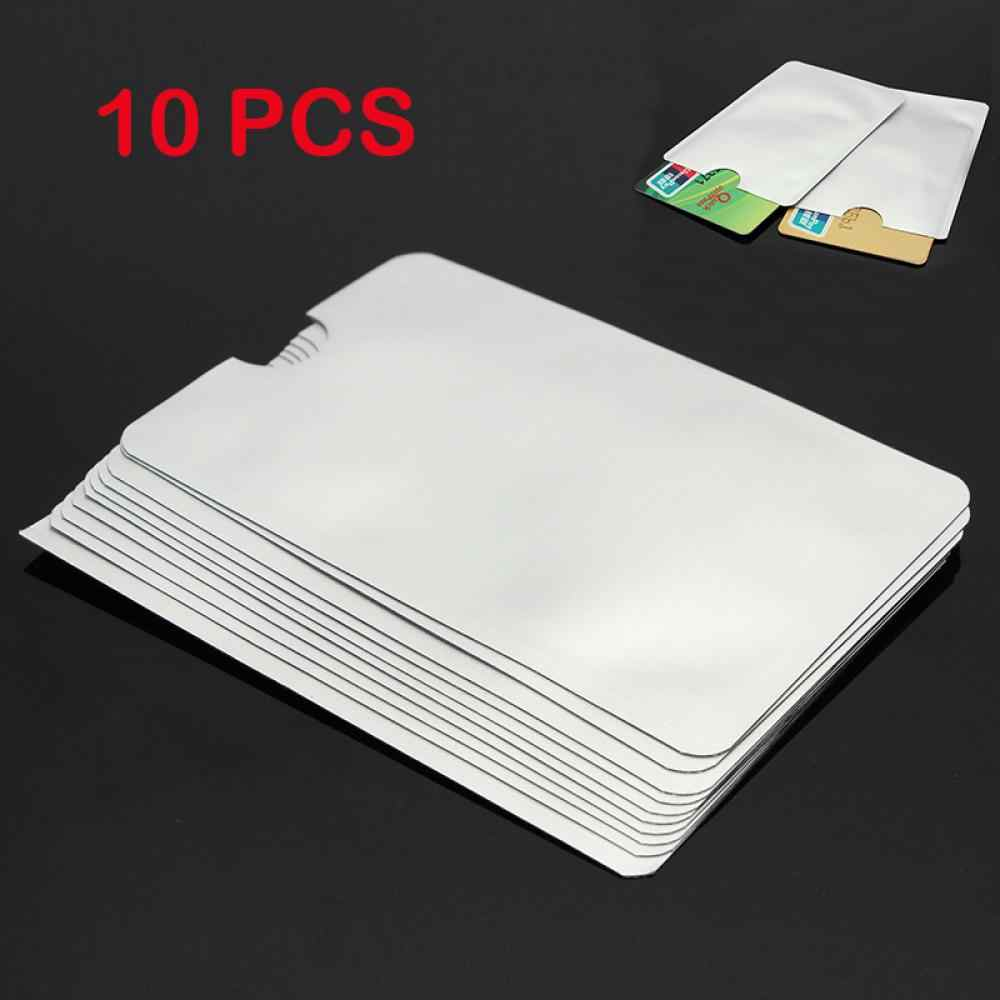 10Pcs Passport Secure Sleeve Holder Anti Scan RFID Blocking Protector Cover Plastic White Soft Trunk No Zipper Card Protector