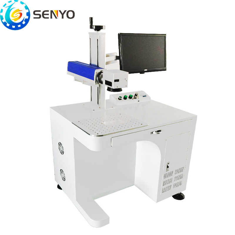 New Fiber laser marking machine for metal 30w with protection eye glasses Mopa fiber laser