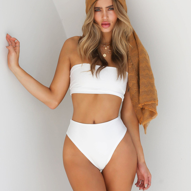 European Foreign Trade New Pattern Bikini Speed Sell Through Heat Sell Sexy Classic Tube Top Suit