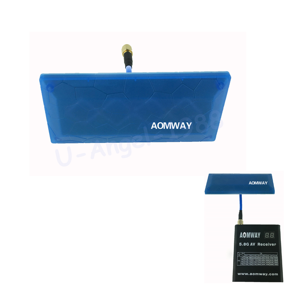 Aomway 5.8GHz 13dBi Antenna High Gain Diamond-shaped Flat Panel for RC FPV Receiver
