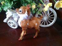 Simulation Lovely Deer Polyethylene Furs Mini Deer Toy About 13x5x11cm