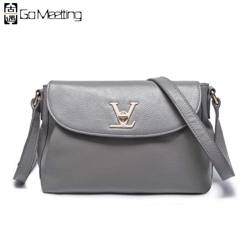 Go Meetting Genuine Leather Women Shoulder Bag High Quality Cow Leather Women's Crossbody Bags Famous Brand  Messenger Bags WD23 candy color women shoulder bag famous brand messenger bags mini crossbody bags for women japan korean high quality design xh209