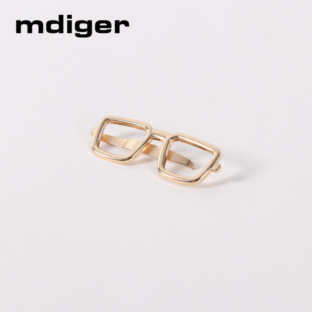 a3af59f7c7 Mdiger Brand Glasses Tie Clips Gold Alloy Plated Necktie Clips Business Tie  Bar Clasp Pin Wedding Bridegroom Suit Clip for Men s-in Tie Clips    Cufflinks ...