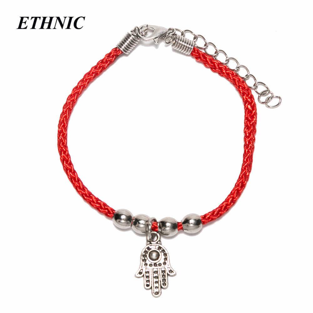 1 шт. винтажный браслет с подвеской в виде слона ручной бесконечности с красной нитью для женщин и мужчин с удлинителем