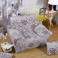 Spandex Stretch Gray Flower Sofa Cover Big Elasticity 100% Polyester Sofa Furniture Cover