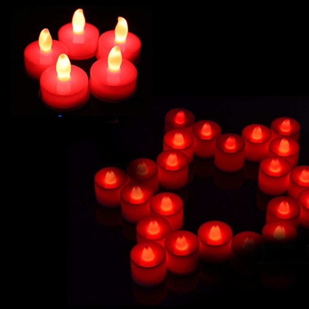 2018 Polypropylen 3 Farben Kerze Form Led Fliker Flammenlose Kerze Licht Für Hochzeit Party Brieftaschen Und Halter