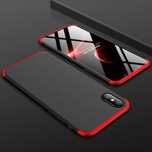 For iPhone 6 6s 7 8 Plus Case Fashion 360 Full Body Hard Hybrid Plastic Protect Back Cover For iPhone X XR XS MAX Coque Fondas water resistant plastic full body case for iphone 5 black