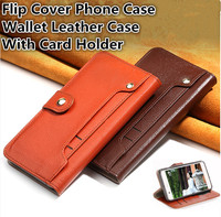 ND07 Wallet Genuine Leather Case For Nokia 7 Plus(6.0') Flip Cover For Nokia 7 Plus Phone Case With Card Holder