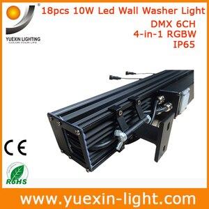 Image 2 - 4 stks/partij 18X10 w 4 IN 1 Outdoor Dmx LED Wall Washer Licht voor Tuin Hotel Bruiloft party Achtergrond IP65 Waterdichte Lamp