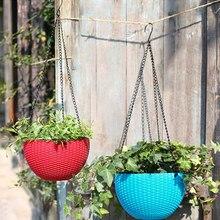 5 шт. цветочный горшок подвесная корзина цветочный горшок 3 точки садовая вешалка для растений с крючками YU-Home