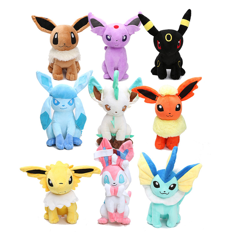 "2Pcs Pokemon Go Plush Toy Vaporeon /& Flareon 6.5/"" Cuddly Stuffed Animal Doll"