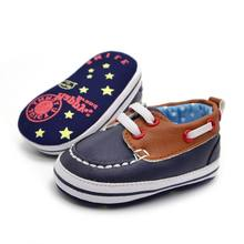 Newborn Baby Shoes 2018 New Fashion Unisex PU Leather Jacket Casual Round Toe Soft Leather Shoes First Walkers 0-18M W1(China)