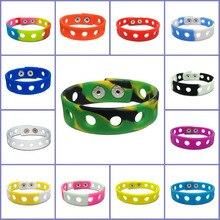 Livre dhl, 1000 pçs cor misturada moda pulseiras de silicone pulseiras pulseiras por atacado apto para encantos de sapato 18cm crianças presente de natal
