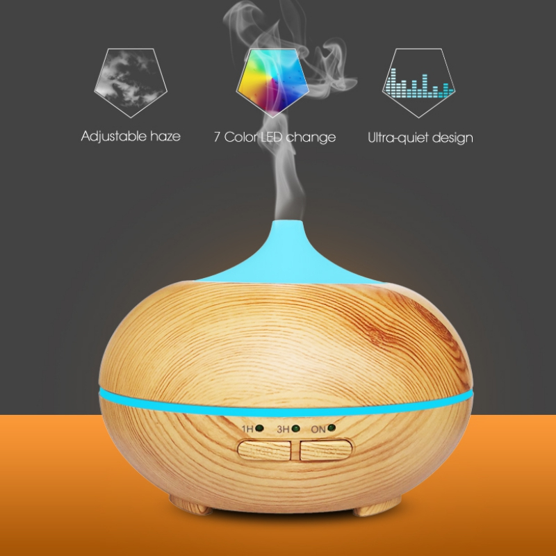 重复150ml Aroma Diffuser Aromatherapy Wood Grain Essential Oil Diffuser Ultrasonic Cool Mist Humidifier For Office Home