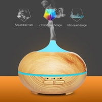 Ejoai 150ml Aroma Diffuser Aromatherapy Wood Grain Essential Oil Diffuser Ultrasonic Cool Mist Humidifier For Office