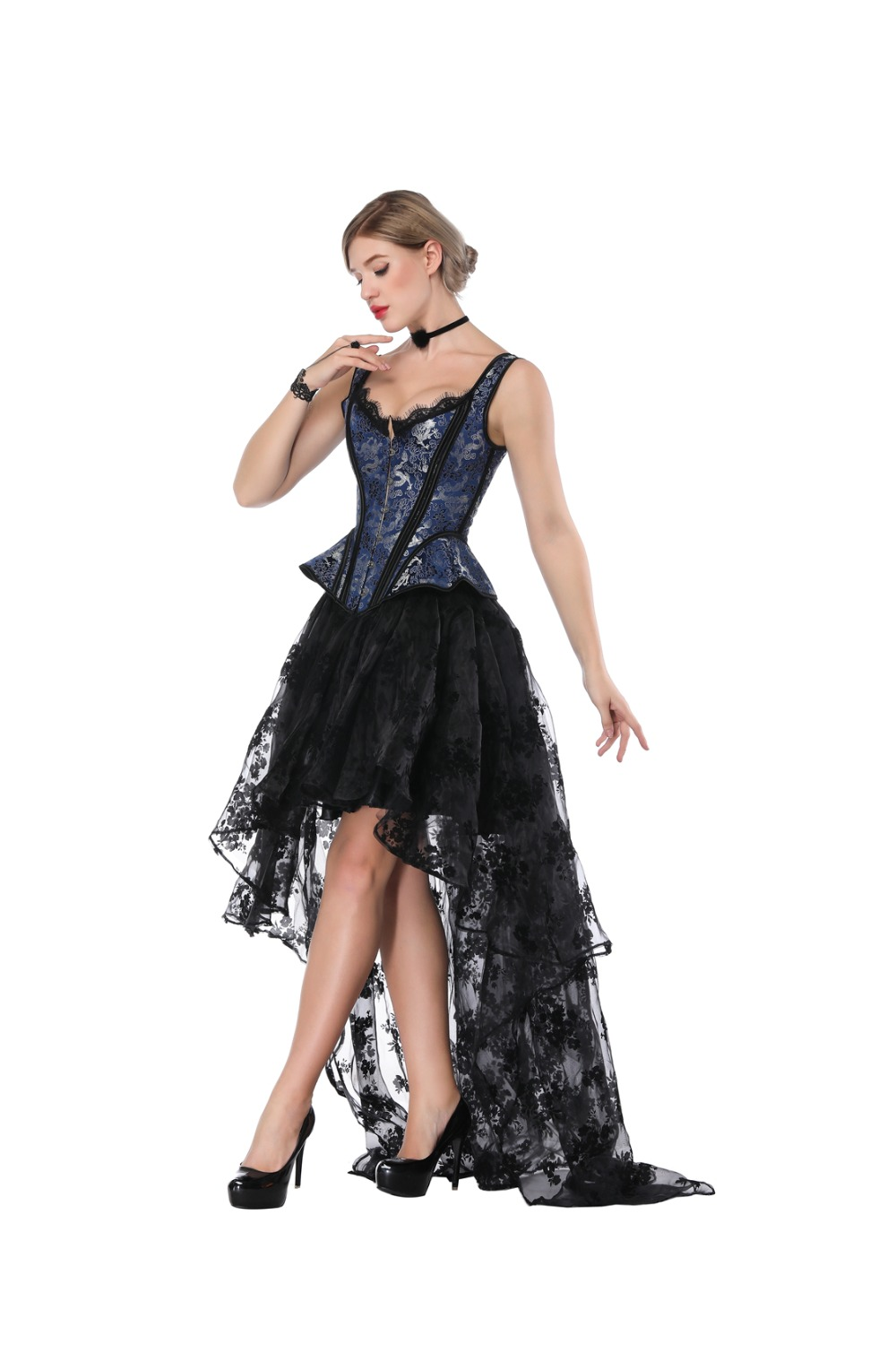 eff683d0e45 Victorian Ruffle Lace Steampunk Corset Dress Plus Size Corsets And Bustiers  Prom Sexy Dresses Gothic Clothing Burlesque Costumes