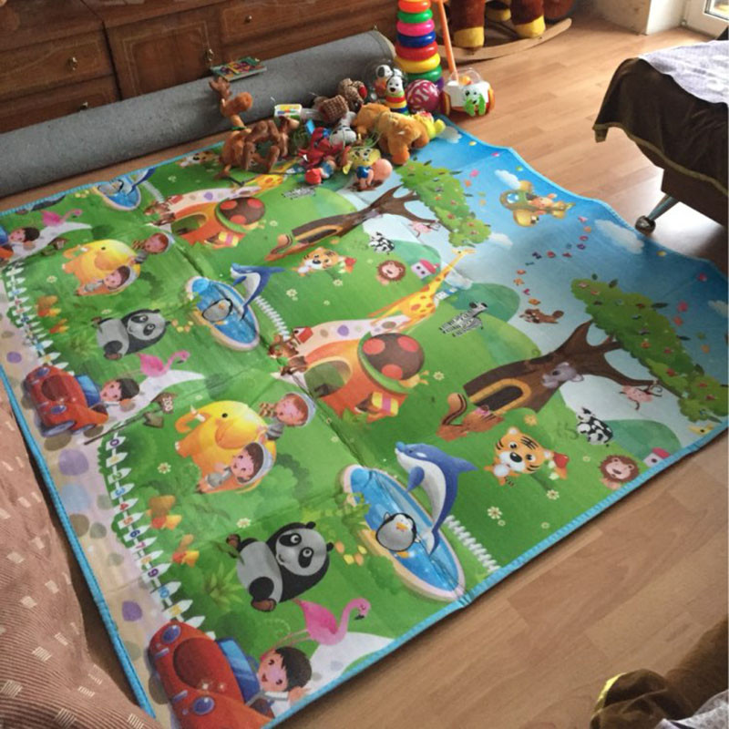 HTB1Eow4bBCw3KVjSZR0q6zcUpXaS 0.5cm Double-Side Baby Crawling Play Mat Dinosaur Puzzle Game Gym Soft Floor Eva Foam Children Carpet for Babies KidsToys