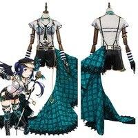 Love Live! Sunshine!! Kanan Matsuura Cosplay Costume Punk Rock Outfit Adult Women Girls Halloween Carnival Costumes