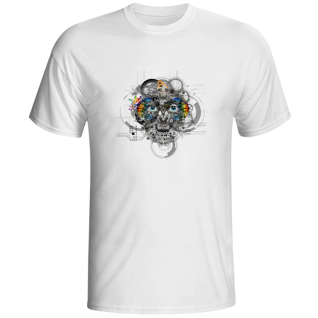 Mechanical Face 3d Printed T Shirt Novelty Fashion Punk Fashion Cool