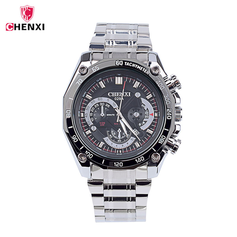 где купить  CHENXI 2017 horloges mannen Quartz Movement Male Business Wristwatch Waterproof Stainless Steel watch men relogio masculino 4751  по лучшей цене