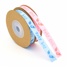 10Meters/Roll 10mm pink grosgrain ribbon for crafts handmade Baby birthday Decorative DIY satin Christmas Gifts Wrapping