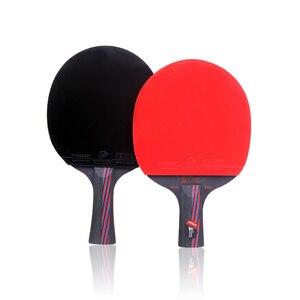 Image 4 - Lemuria raquette de Tennis de Table hybride en bois, raquette de ping pong en caoutchouc, en fibre de carbone, 9.8