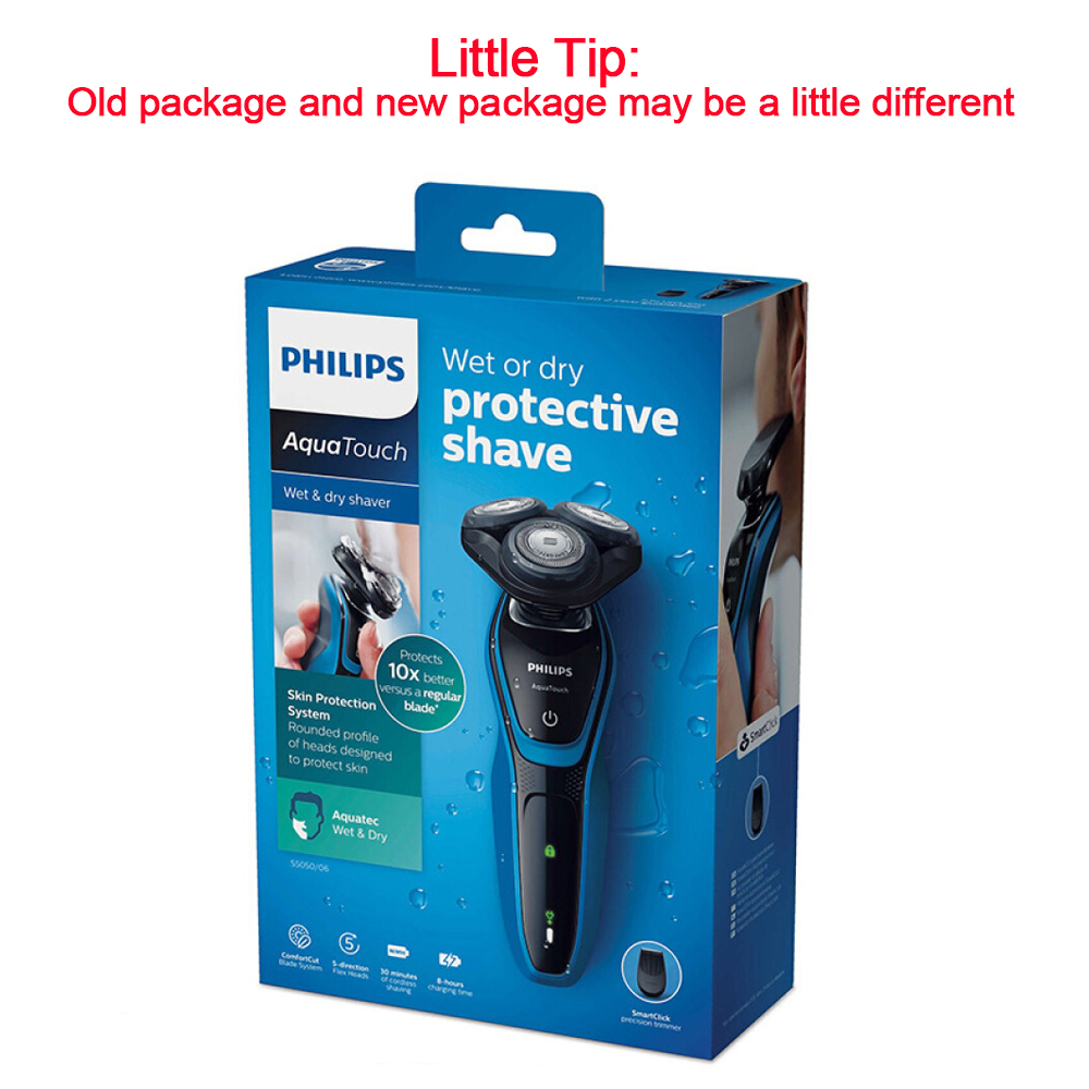 Image 5 - New Philips Professional Fully Washable electric shaver S5050 with AquaTec Wet & Dry with Skin Protection System Razor for Mens-in Electric Shavers from Home Appliances