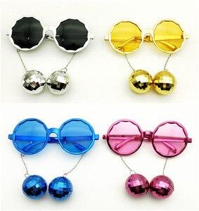 4 шт. в упаковке, блестящие Висячие очки с диско-мячом, костюм для музыкального фестиваля, аксессуары для вечеринок, креативные солнцезащитн...