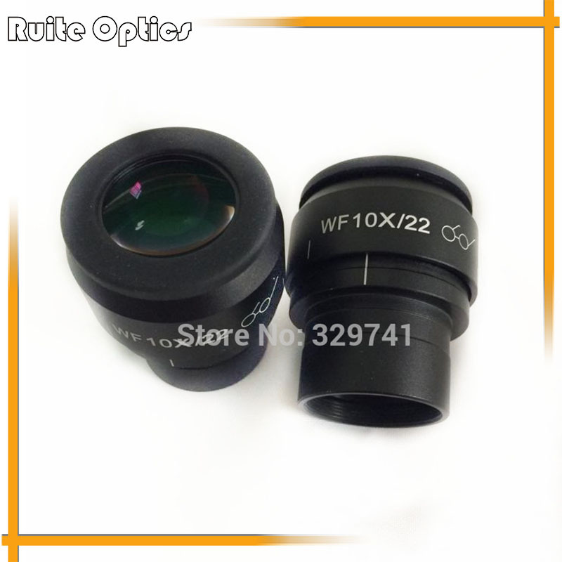 10x Zoom Stereo Microscope Plan High Eyepoint Eyepiece Wide Fidle Eyepiece with Adjustable Field of View Green Film accessories stereomicroscope special wide angle 10x eyepiece with 20 times the measured differential reticle