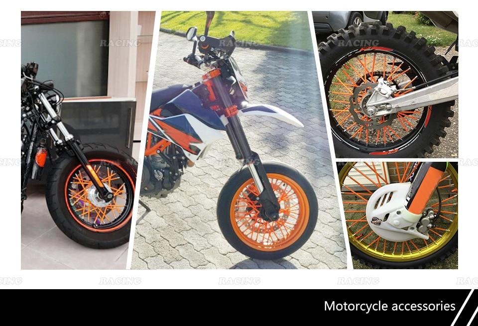 72 tk Universaalne Moto maastikusõiduratas RIM Spoke Skins katted - Mootorrataste tarvikud ja osad - Foto 2