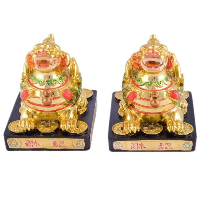 Feng Shui Protective Golden Pair Pi Yao/ Pi Xiu for Wealth D1031