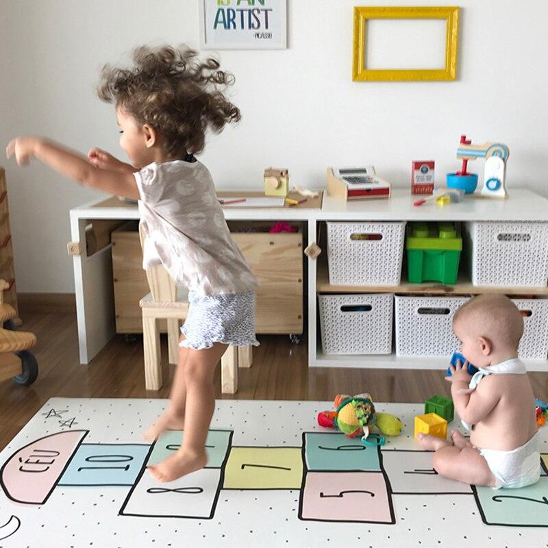 Enfants Plancher Jeux Tapis Garçons Filles Chambre Étage Numérique Checkers Tapis Tapis Bébé Ramper Chambre Décoration Accessoires tapis de Jeu