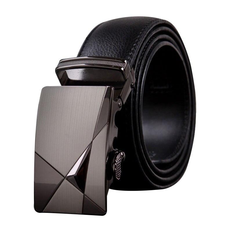 Men   belt   high quality Imitation solid color leather Automatic buckle   belt   business affairs Men casual   belt