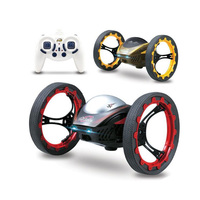 2.4GHz 17cm RC Bounce With Flexible Wheels Rotation LED Light Remote Control Robot Model Toys Children Birthday Gifts Jouet