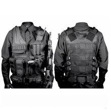 Gilet tactique militaire de chasse de haute qualité en Nylon Airsoft jeu de guerre gilet dextérieur pour Camping randonnée avec étui à pistolet