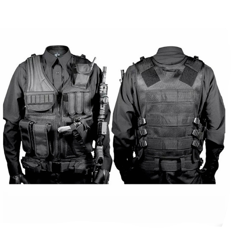 Hunting Military Tactical Vest High Quality Nylon Airsoft War Game Outdoor Vest for Camping Hiking with Pistol Holster high quality tactical outdoor view wind duck for hunting target cl38 0006